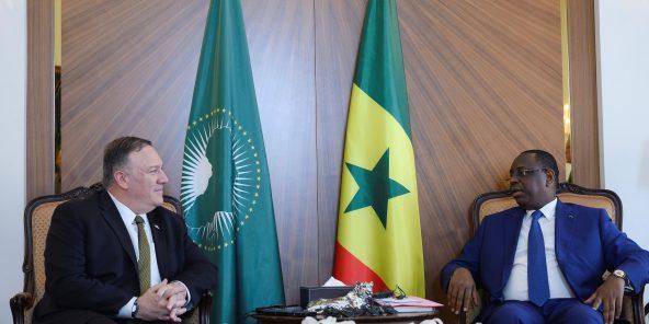 Mike Pompeo et Macky Sall à Dakar, le  février .
