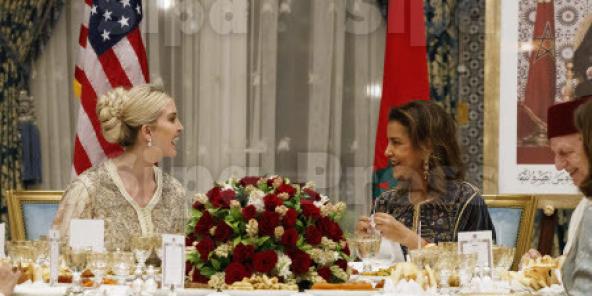 Ivanka Trump et la princesse Lalla Meryem, le 7 novembre 2019 au Palais royal de Rabat.