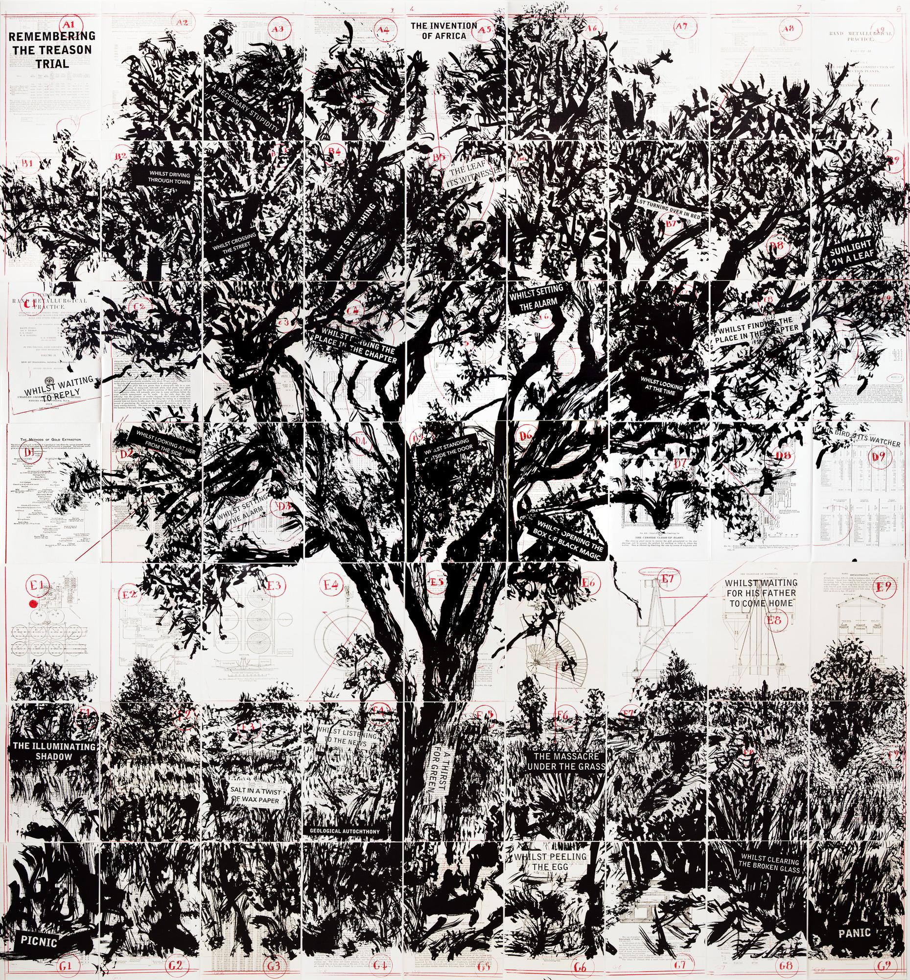 Remembering the Treason Trial, 2013, lithographie sur papier.