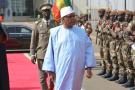 Le président malien IBK quitte Bamako pour Nouakchott, le 24 février 2020.