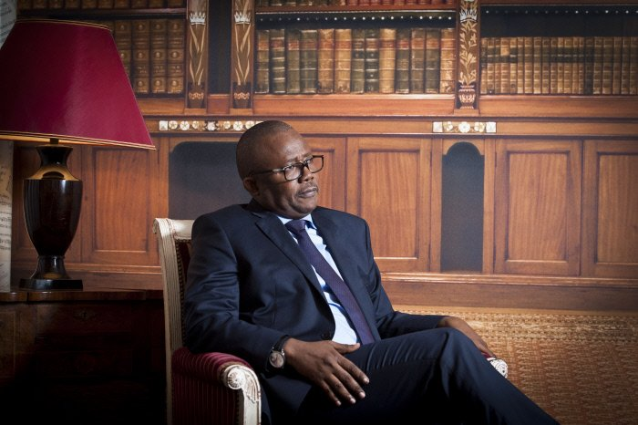 Umaro Sissoco Embalo, président de la République de Guinée Bissau, élu suite à l'élection presidentielle de décembre 2019. À Paris, le 21.01.2020.