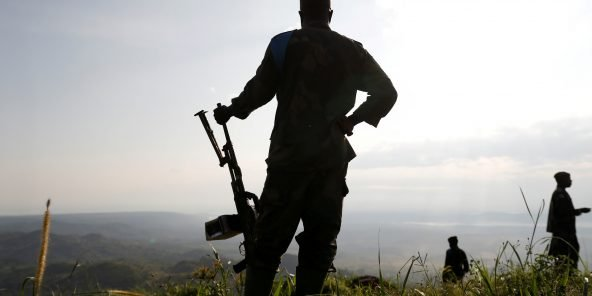 Un soldat des FARDC près de Beni, dans l'est de la RDC.