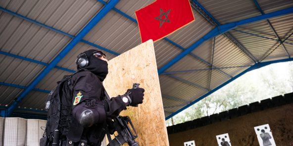 Entraînement des unités du groupe d'intervention rapide de la DGST, à Rabat, en 2018.