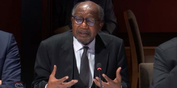 Toumani Djimé Diallo, ambassadeur du Mali en France, lors de son audition devant la Commission de Défense du Sénat français, le mercredi 26 février 2020.