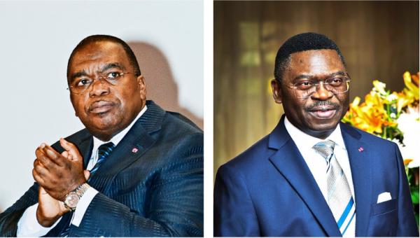Louis Paul Motaze (à g.) et Ferdinand Ngoh Ngoh se livrent une impitoyable guerre d'influence.