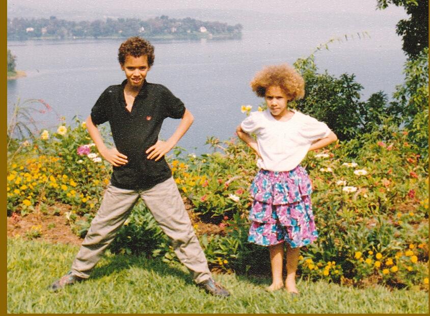 Sur les rives du lac Kivu, à Bukavu, en RDC, en 1992.