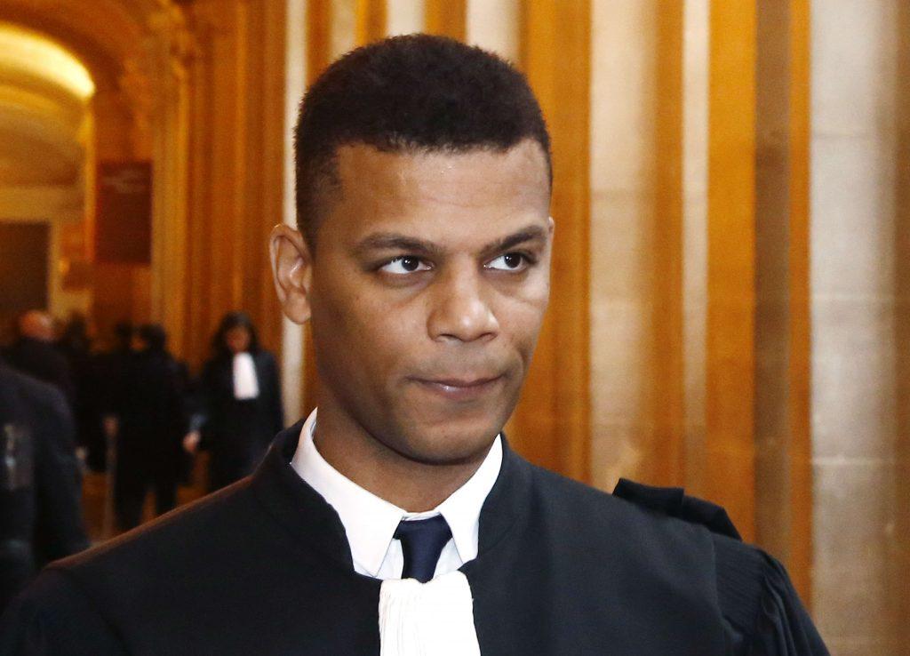 L'avocat Yassine Bouzrou, au Palais de justice de Paris, lors des audiences du procès de Tariq Ramadan, en février 2018.