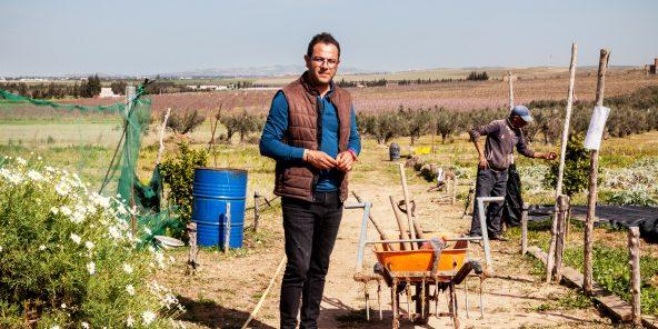 Jihed Bitri, agriculteur en permaculture
