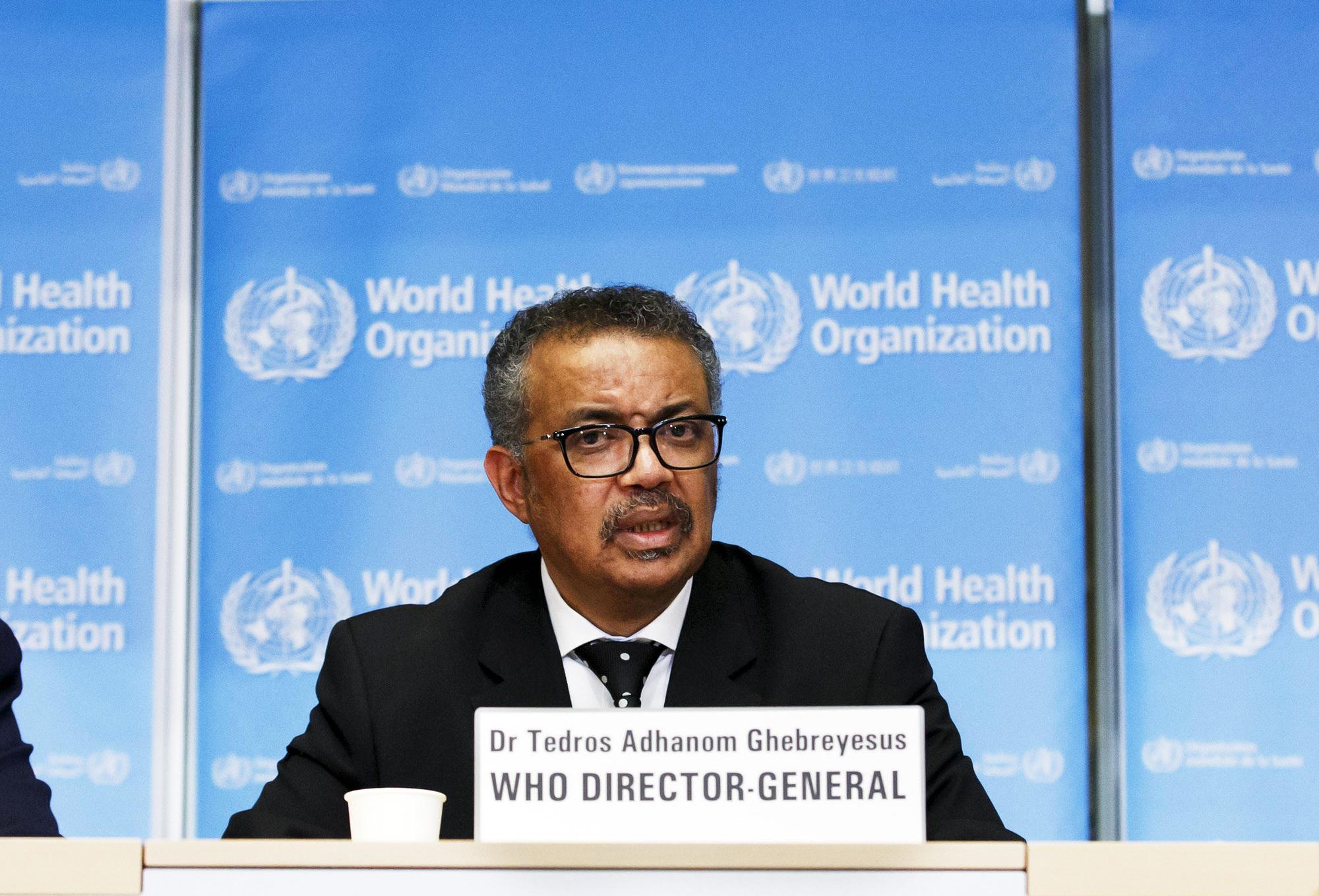 Le directeur général de l'OMS, Tedros Adhanom Ghebreyesus, à Genève, le 10 février 2020.