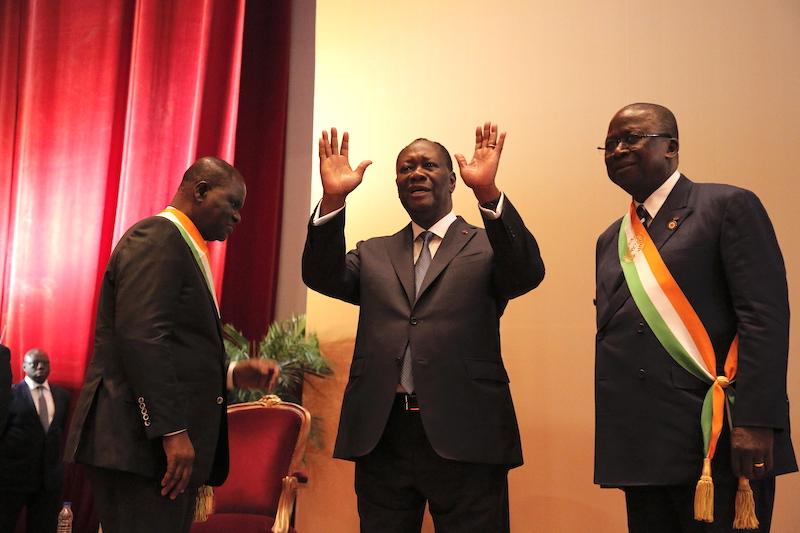 Le président ivoirien Alassane Ouattara, devant le Congrès, à Yamoussoukro, le 5 mars 2020.