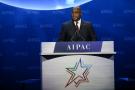 Le président Félix Tshisekedi, lors de son discours devant l'AIPAC, aux États-Unis, le 2 mars 2020.