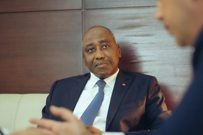 Amadou Gon Coulibaly, premier ministre de Cöte d'Ivoire, en 2017 à Abidjan (archives).