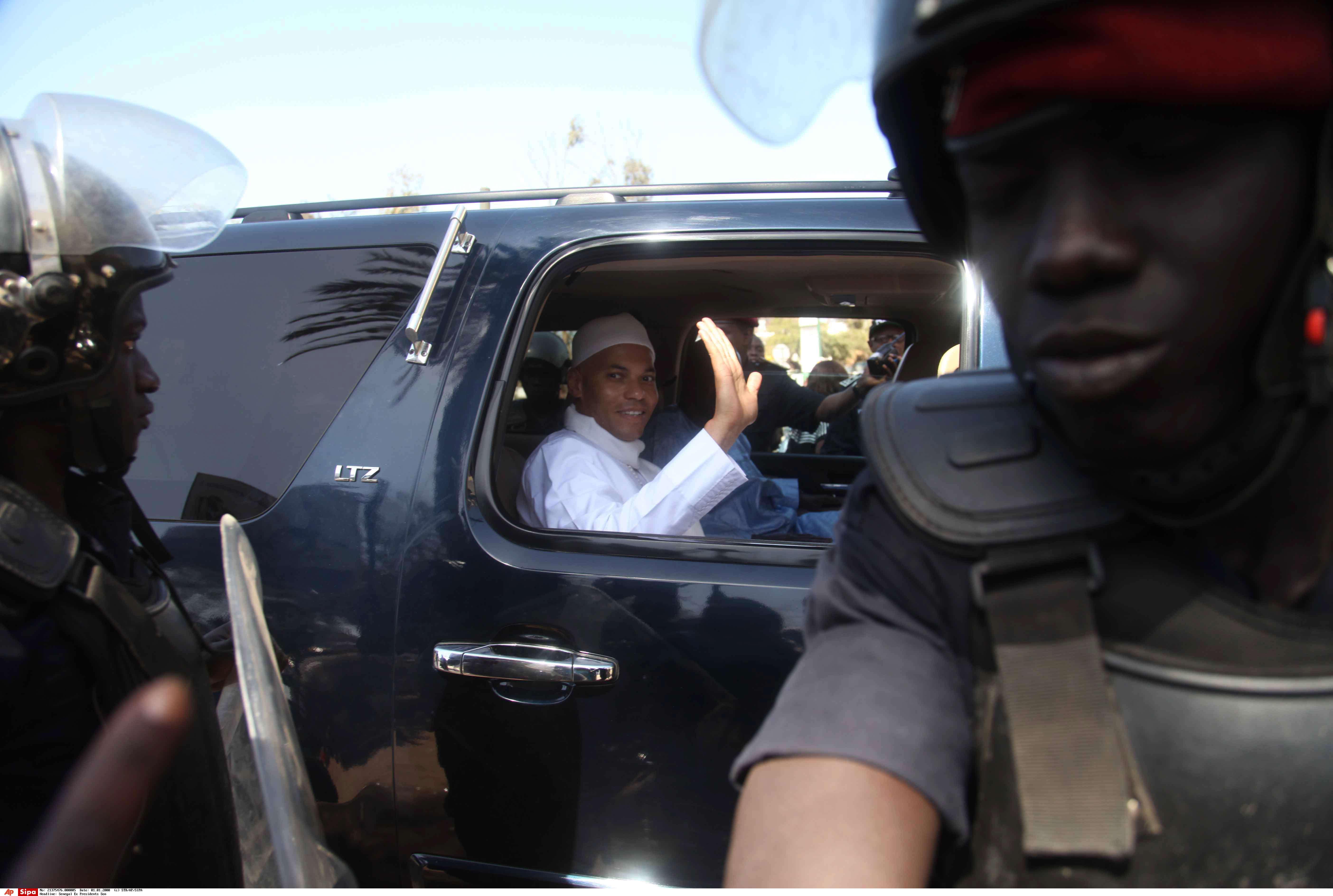 Karim Wade, à Dakar, en mars 2015.