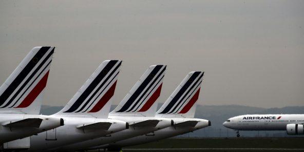 Des avions Air France, à Roissy, le 17 mai 2019. Photo d'illustration.