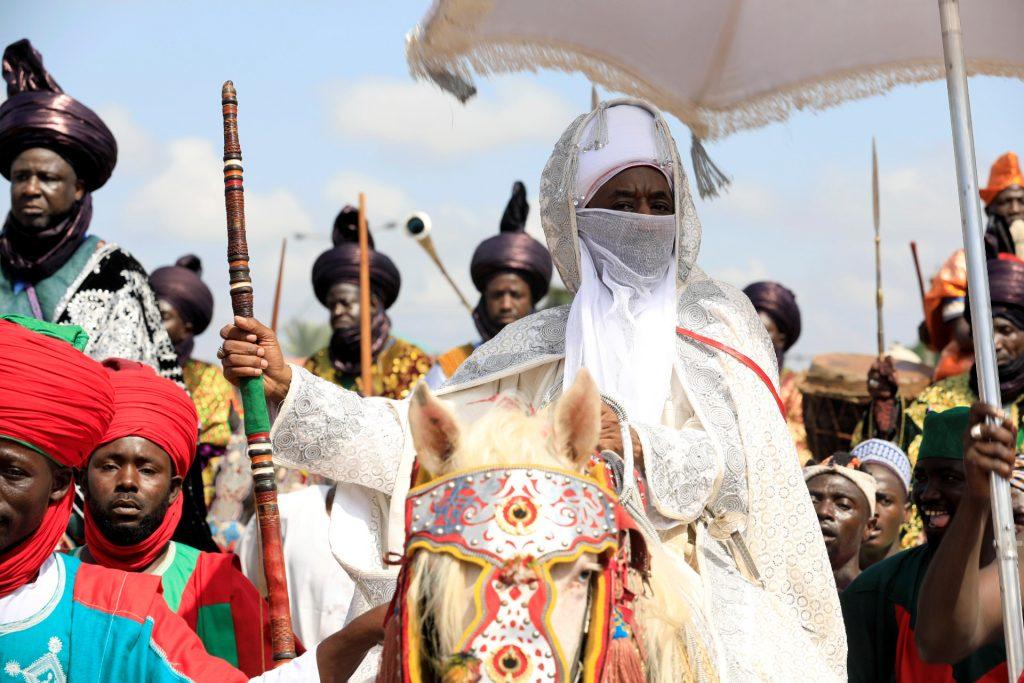 L'émir de Kano, Muhammad Lamido Sanusi II, lors de la célébration de l'Aïd-el-Adha, en septembre 2017 à Kano.