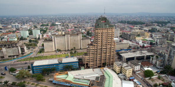 Kinshasa, vue aérienne (photo d'illustration)