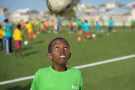 Un enfant lors d'un festival de la Fifa à Mogadiscio, en Somalie, en août 2019.