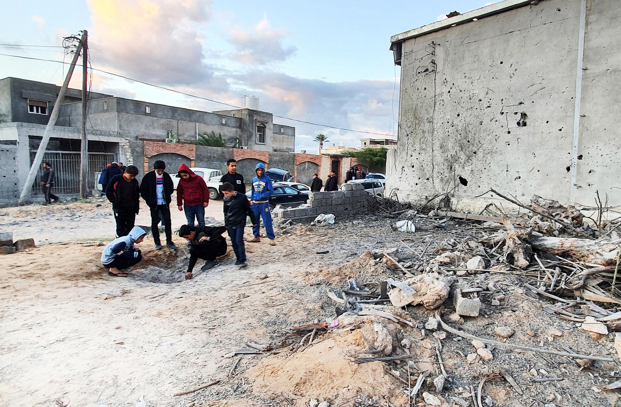 Le 29décembre 2019, après une frappe aérienne à Tajoura, dans la banlieue deTripoli.