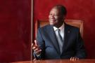 Le président Alassane Ouattara, à Abidjan le 9 mars 2020.