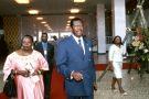 Victor Fotso au sommet France Afrique, à Yaounde, au Cameroun, en 2001.