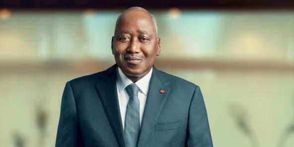 Amadou Gon Coulibaly à Abidjan, le 8 décembre 2019.