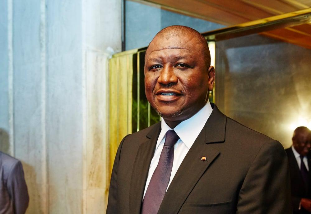 Hamed Bakayoko, ministre de la Défense de Côte d'Ivoire.