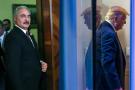 Le maréchal Khalifa Haftar et le président américain Donald Trump.