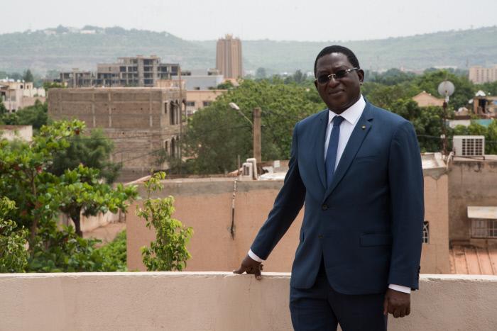 Soumaïla Cissé, le chef de file de l'opposition malienne, en juin 2018 à Bamako (Archives).