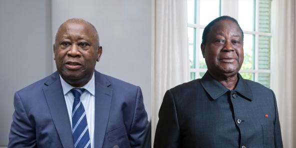 Laurent Gbagbo et Henri Konan Bédié.