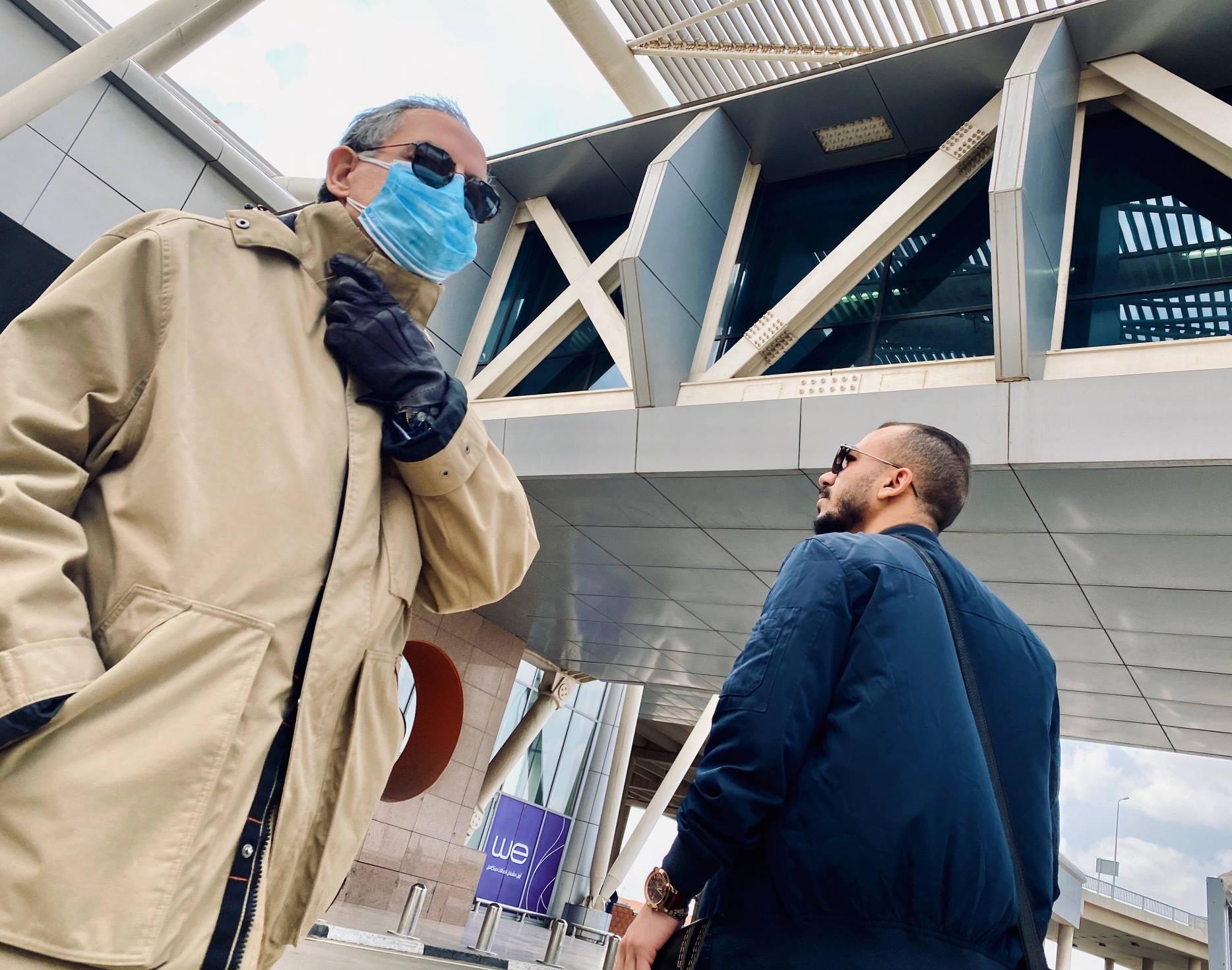 A l'aéroport du Caire, le 19 mars 2020.
