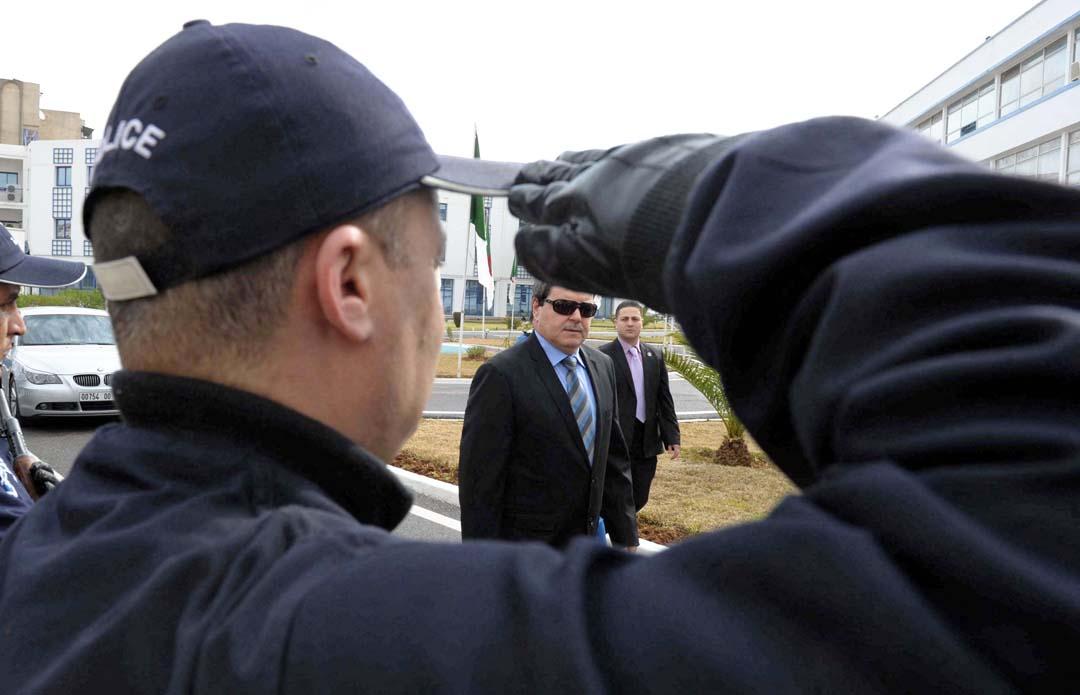Abdelghani Hamel à Alger, en 2012.