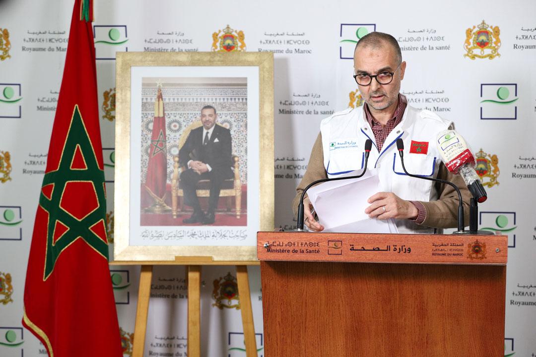 Déclaration de presse du directeur de l'épidémiologie et de lutte contre les maladies au ministère de la Santé, Mohamed El Youbi pour décliner les statistiques relatives à la pandémie du coronavirus au Maroc.