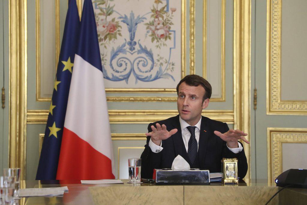 Le président français Emmanuel Macron, le 24 mars 2020.