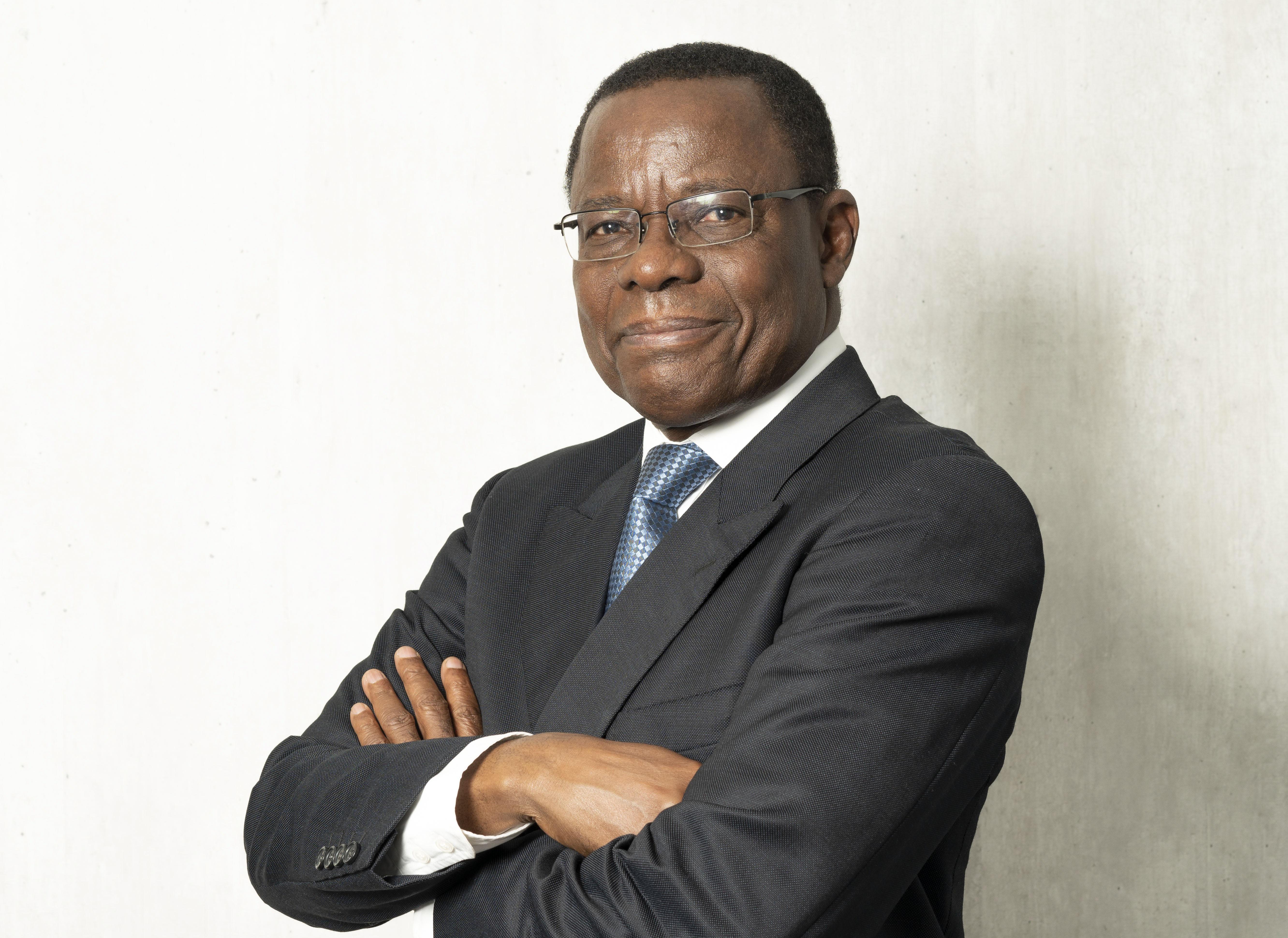 Maurice Kamto, du Mouvement pour la renaissance du Cameroun (MRC), en mai 2018.