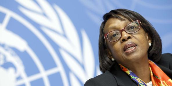 Matshidiso Moeti, directrice Afrique de l'OMS, à Genève, le 1er février 2019.