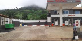 Station-service Total en Sierra Leone.
