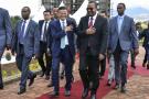 Jack Ma, fondateur du groupe Alibaba, et Abiy Ahmed, e Premier ministre éthiopien, le 25 novembre 2019 à Addis-Abeba.