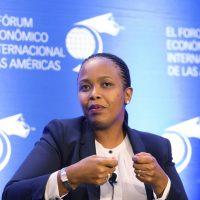Clare Akamanzi, à la tête du Rwanda Development Board, à Montreal, au Quebec en juin 2018