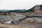 Débuts des travaux de construction du barrage Grand Renaissance, en 2013.