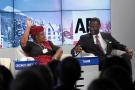 Ngozi Okonjo-Iweala et Tidjane Thiam, en janvier 2014, lors du Forum économique mondial de Davos.