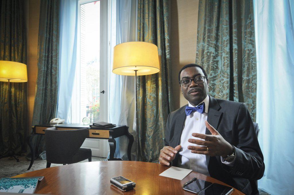 Akinwumi Ayodeji Adesina, en 2015.