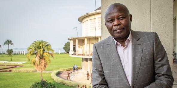Vital Kamerhe au Palais de la Nation, à Kinshasa, le 18 février 2020.