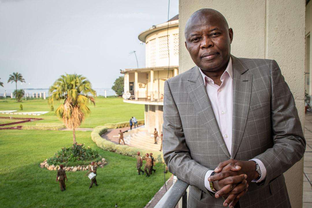 Vital Kamerhe, le controversé directeur de cabinet du président congolais Felix Tshisekedi, au Palais de la Nation, à Kinshasa, le 18 février 2020.