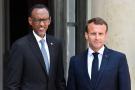 Le président français Emmanuel Macron et le président rwandais Paul Kagame, le 23 mai 2018, à l'Élysée.