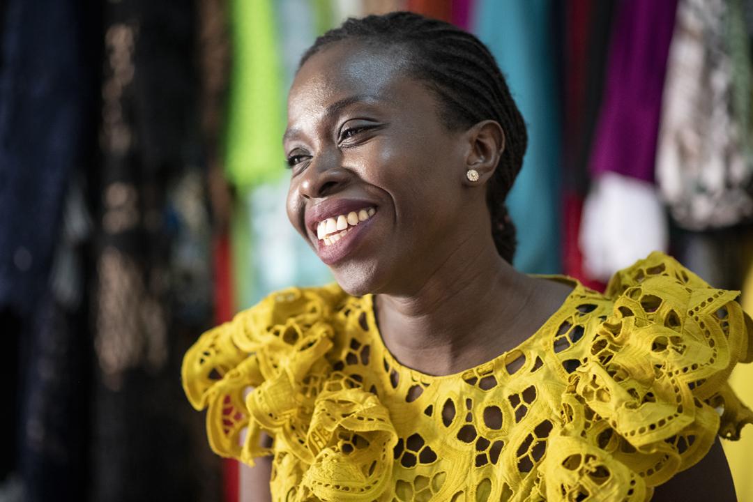 La créatrice de mode sénégalaise Touty Sy, en avril 2020.