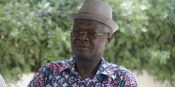 L'opposant togolais Agbéyomé Kodjo, le 24 février à Lomé.