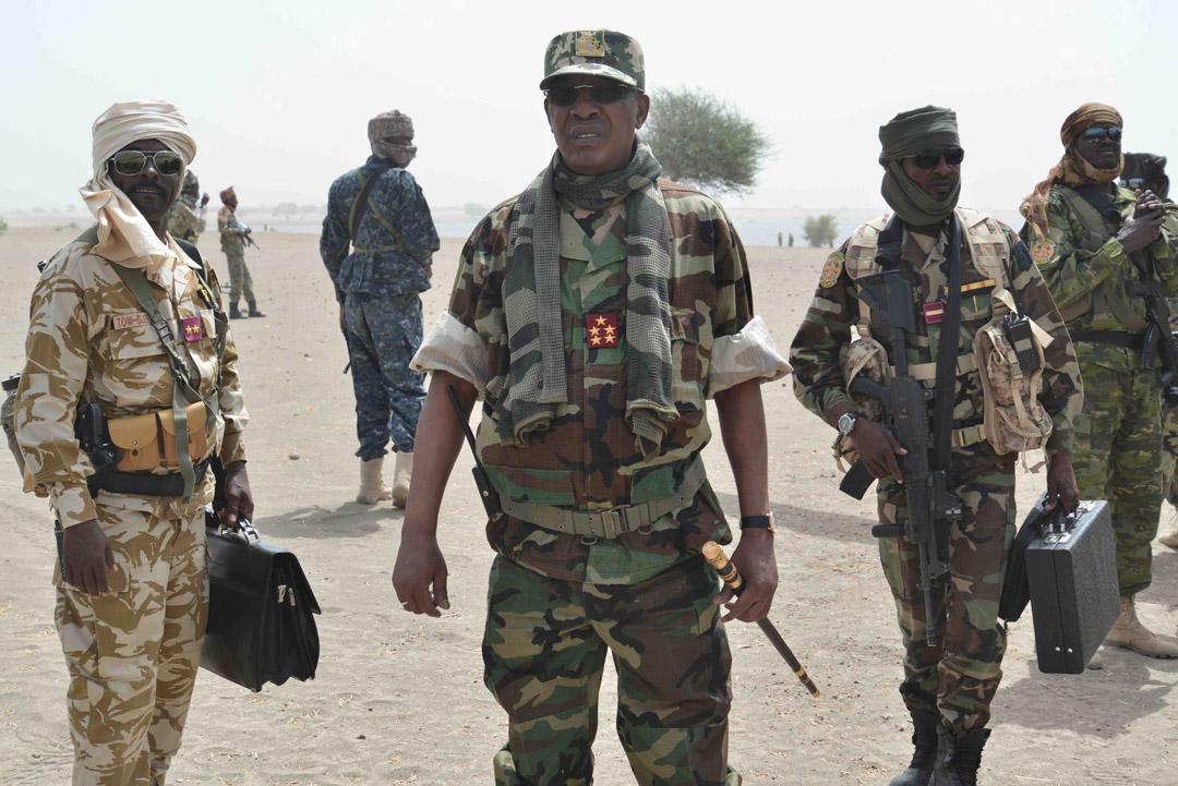 Idriss Déby Itno, le président tchadien, le 29 mars 2020 lors de l'opération «colère de Bomo».