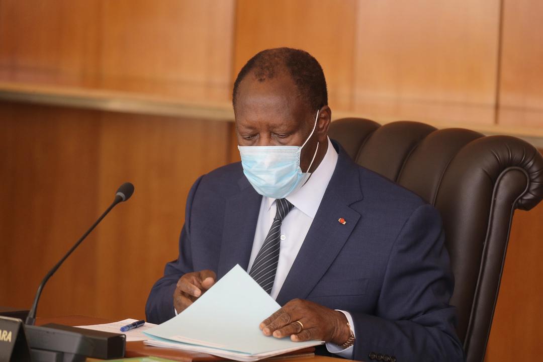 Alassane Ouattara, 09 avril 2020© présidence de Côte d'ivoire