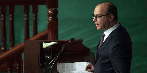 Le chef du gouvernement tunisien Elyes Fakhfakh, le 20 février 2020.