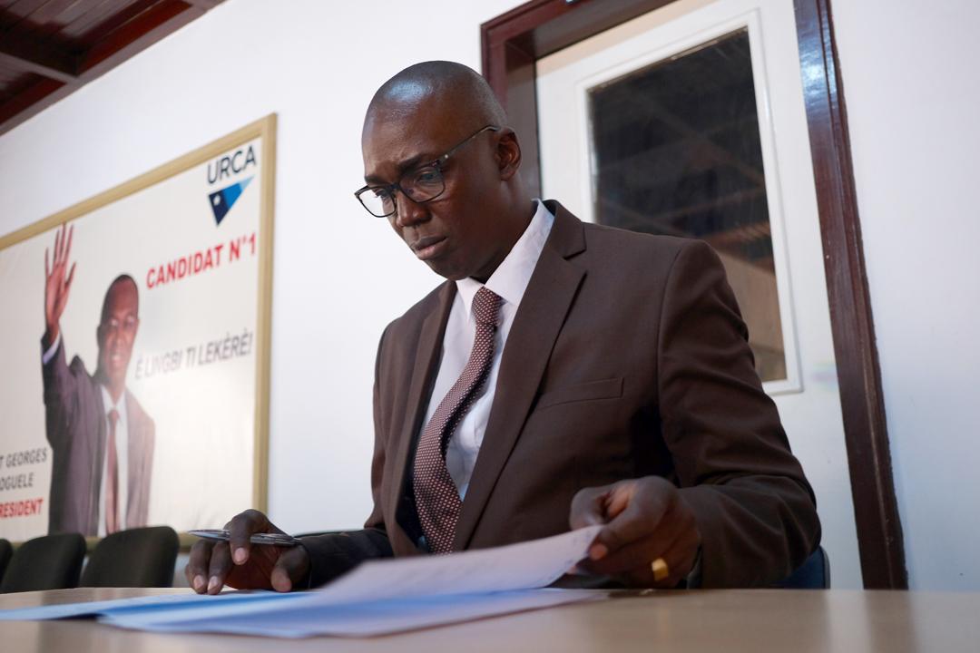 Christian Guenebem, le 11 février 2020, à Bangui.